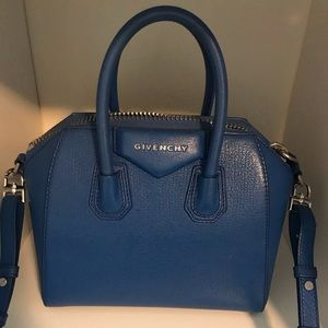 Givenchy Blue mini antigona crossbody